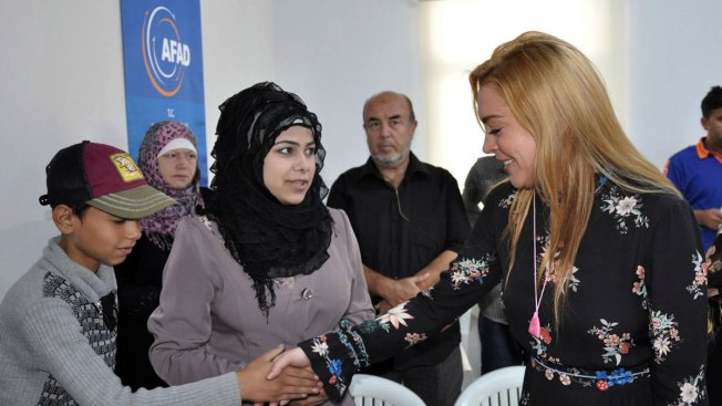 Lindsay Lohan Visits Syrian Refugees in Southeast Turkey