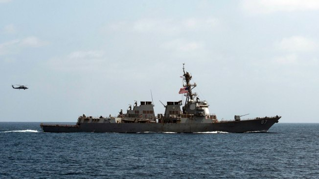 USA warship 'again targeted in apparent failed missile attack'