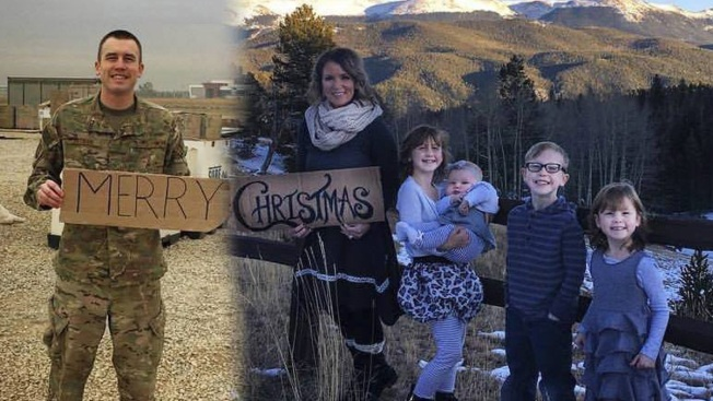 Military Wife Finds Creative Way to Include Deployed Husband in Family Christmas Photo