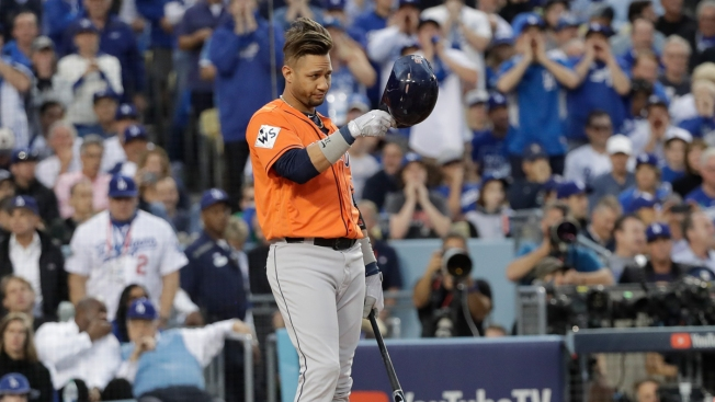 LA Fans Boo Gurriel, Who Tips Helmet to Darvish