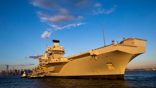 Largest Ship Ever Built for British Navy Visits US