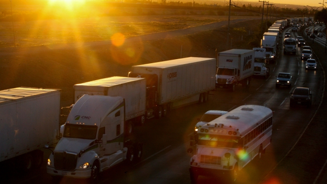 Border Chaos Forces Truckers to Wait Hours, Sometimes Days