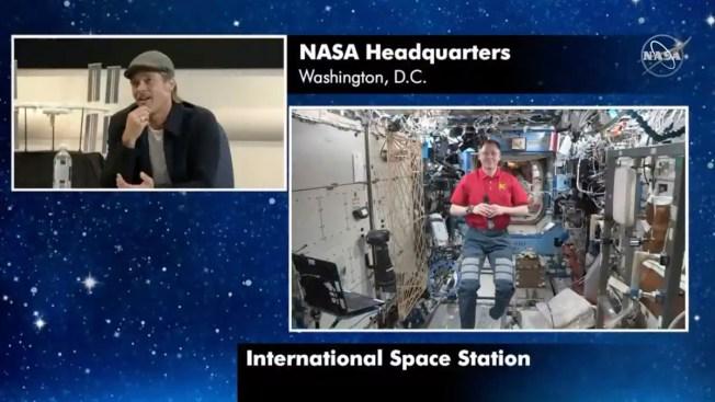 Brad Pitt Asks Astronaut: Who Was better? Clooney or Pitt?