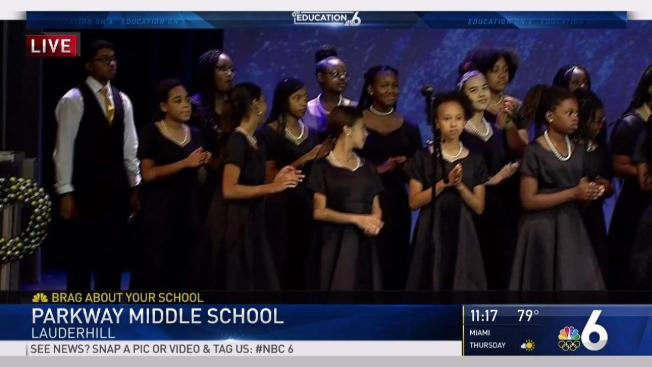 brag about your school parkway middle school of the arts nbc 6 south florida