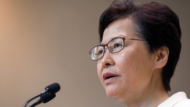 Hong Kong's Carrie Lam Says She Hasn't Resigned Because It's Easy Way Out