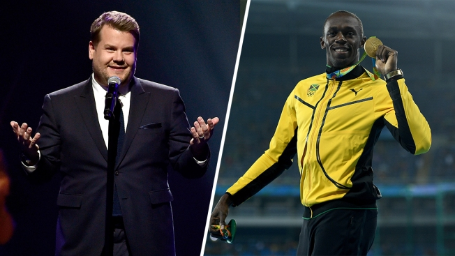 James Corden Races Usain Bolt on 'The Late Late Show'