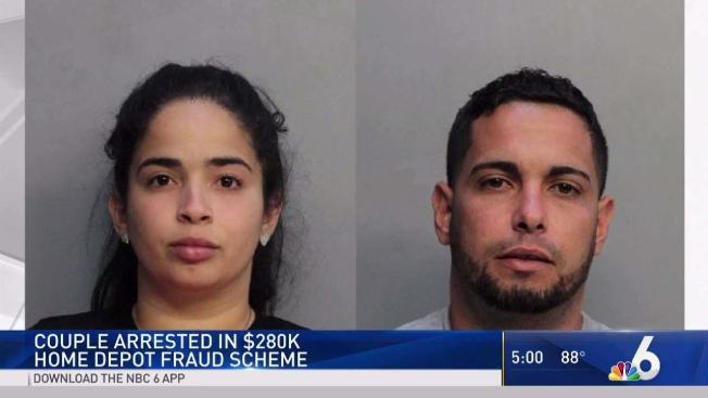7ca6f5cd493 North Miami Couple Arrested in  280K Home Depot Fraud Scheme - NBC 6 ...