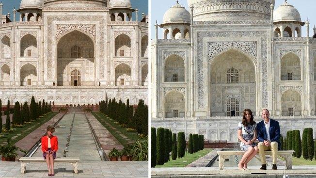 Royal Couple Pose for Photo at Taj Mahal, Invoke Iconic Image of Princess Diana