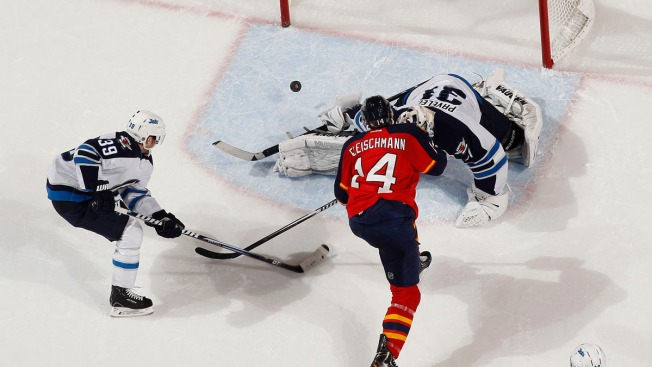 Florida Panthers Beat Jets 5-2 As Dylan Olsen Scores 1st NHL Goal