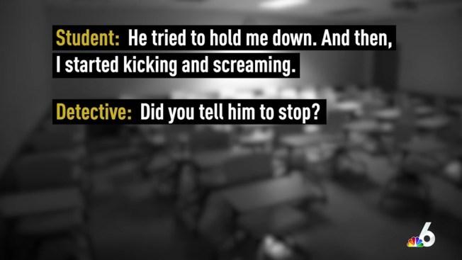 Former Student Tells Police Her Teacher Raped Her
