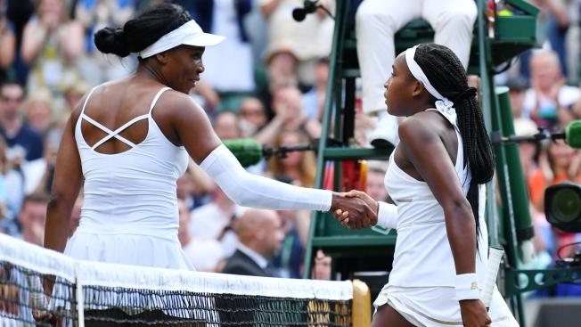 Image result for Cori Gauff Wimbledon Venus Williams