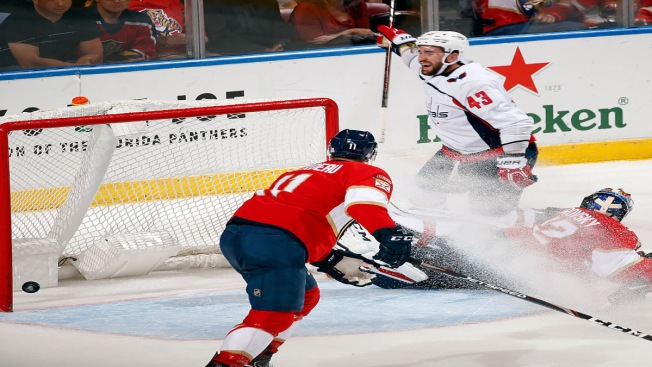 Wilson Scores in OT to Lift Washington Capitals Over Florida Panthers
