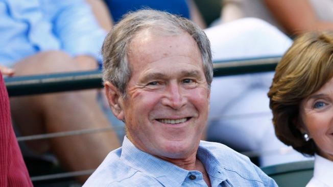 George W. Bush Photobombs Reporter During Baseball Game