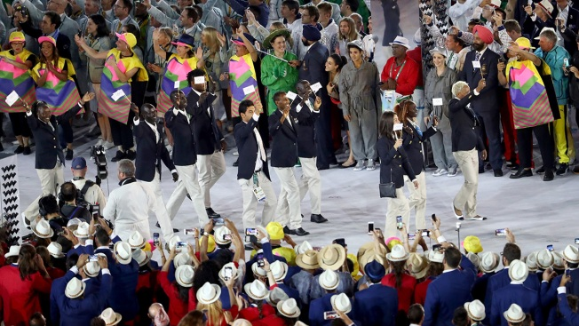 Refugee Olympic Team Receives Warm Embrace at Rio Opening Ceremony