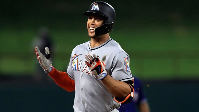 Marlins' Giancarlo Stanton open to playing for Yankees