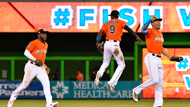 Three Marlins Named as Finalists for Gold Glove Award