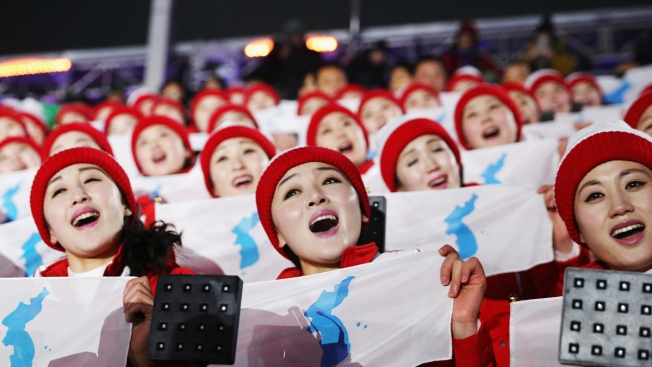 [NATL] In Photos: North Korean 'Army of Beauties' Cheers on a Unified Korean Team in Pyeongchang