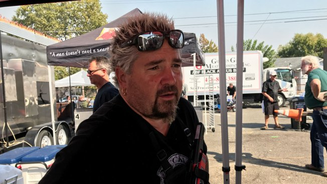Guy Fieri, Other Chefs Offer Up Barbecue in Fire-Devastated Santa Rosa