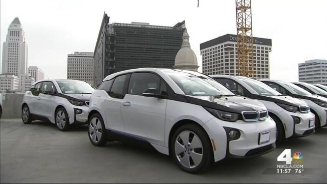 Lapd Unveils Its Bmw Electric Cars
