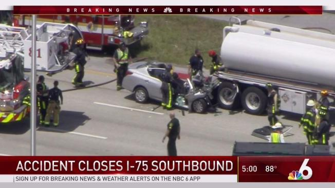 I 75 Traffic Accident - Control Traffic Foto In The Word
