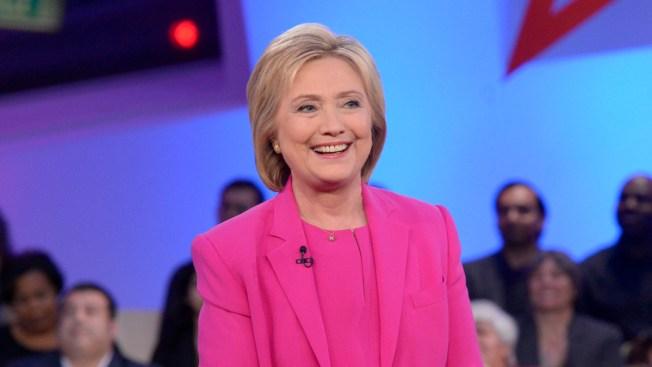 Hillary Clinton Visits Kerry Washington on Set of 'Scandal'