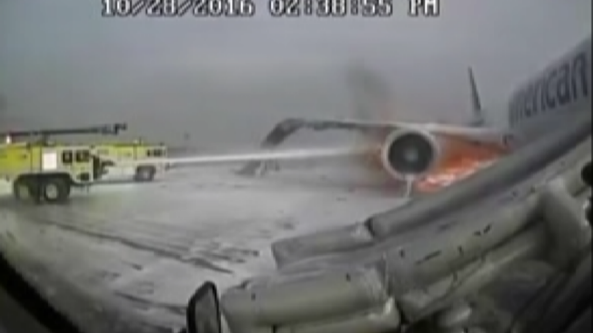 2016 Chicago Plane Fire Seen in Never-Before-Seen Control Tower Video