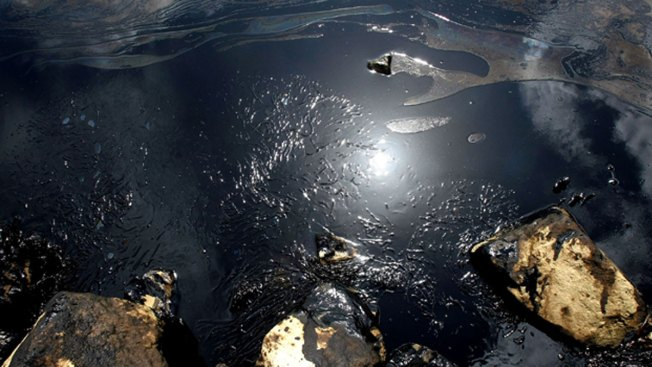 Crews Mopping Up Oil Spill in Texas' Galveston Bay