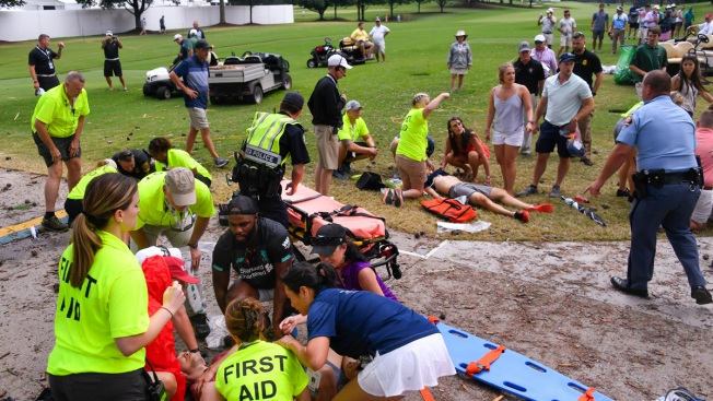 Golf Spectators Injured by Lightning Released From Hospital