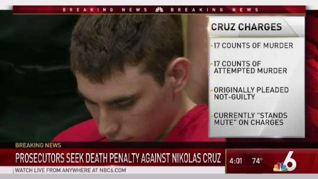 Prosecutors To Seek Death Penalty Against Suspected Parkland School Shooter  Nikolas Cruz   NBC 6 South Florida