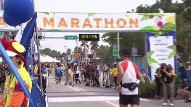 Couple Gets Engaged At Finish Line Of Miami Marathon