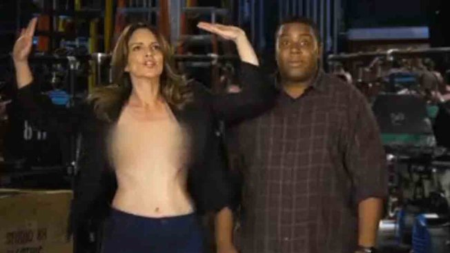 Tina Fey Kinda, Sorta Suffers Double Nip Slip in Saturday Night Live Promo--Watch!