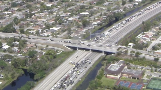 police talk man down from turnpike overpass fence in miramar nbc 6