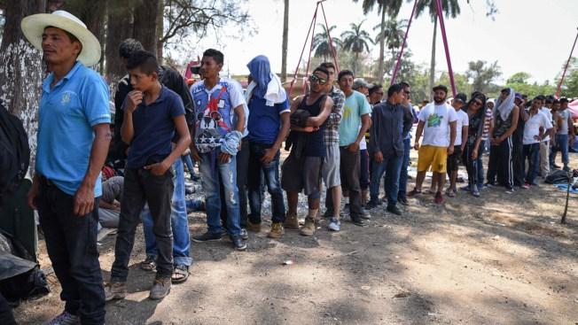 Migrant Caravan, Raising Concerns in US, Halts in Mexico