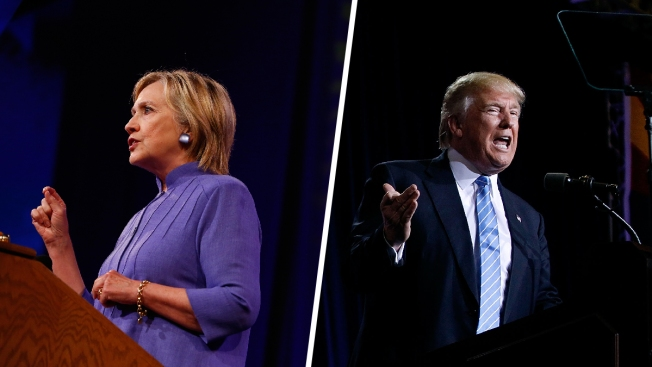 Clinton and Trump hold competing news conferences