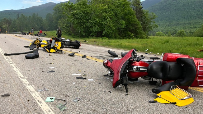 7 Dead in Collision With Several Motorcycles, Pickup Truck