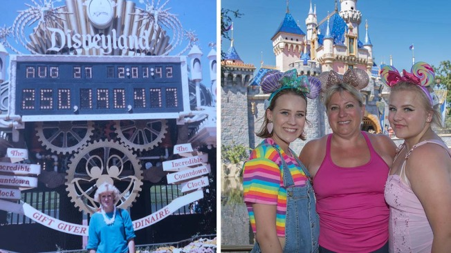 Woman and Her Teen Daughters Visit Disneyland With a Ticket She Won in 1985