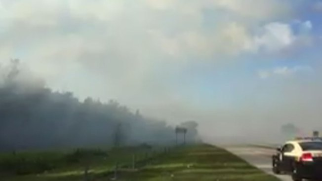 Brush fire closes Florida's Turnpike south of Orlando