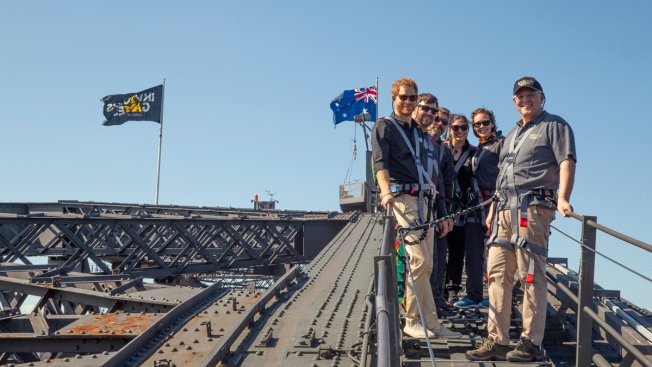 Prince Harry Raises Invictus Games Flag Over Sydney Harbor