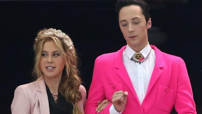 Johnny Weir's Red Flower Pin, Pink Blazer Turn Heads in Sochi