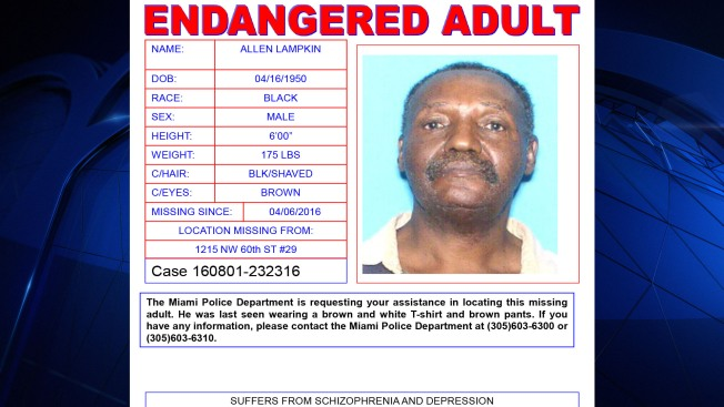 Miami Police Seek Missing Man with Schizophrenia, Depression