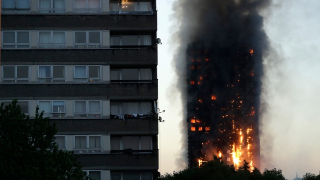 London Fire: Baby Dropped, Caught as High-Rise Burns