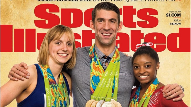Phelps Gives Ledecky Medal-Wearing Advice During SI Photo Shoot
