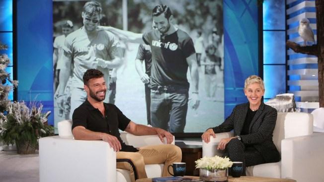 Ricky Martin Shares Engagement News on Ellen