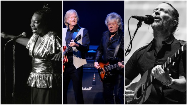 Simone, Moody Blues and Radiohead are Rock Hall Nominees
