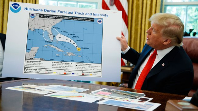 Called Out by Meteorologists, Trump Clings to Dorian Alabama Claim