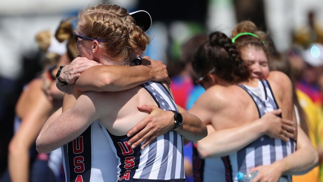 US Rowers Win 3rd Straight Olympic Gold in Women's Eight; Gevvie Stone Wins Silver in Single Sculls