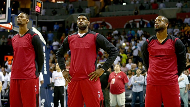 Heat's Big Three Meet Ahead of Free Agency