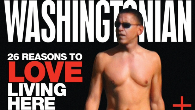 Shirtless Barack Graces Mag Cover
