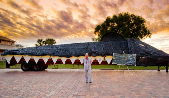 Giant Gator Head Artwork Draws Attention Along Alligator Alley