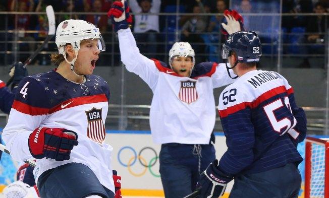 U.S. Slams Slovakia in Hockey Opener
